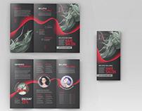 Free Hair Salon Tri-Fold Brochure Template