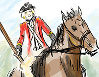 Red Coat on horseback