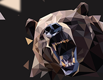 Bear Low Poly illustration