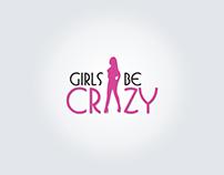 Girls crazy logo mockup