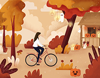 Autumnal illustration