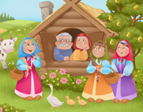 "Interactive app fairy tale ""MASHA AND THE BEAR"""