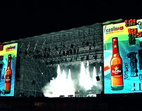 Video Mapping - Estrella Damm CRUILLA Barcelona 2014