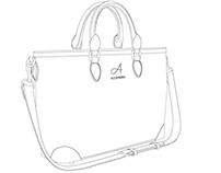 Technical draw woman's' handbag