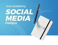icon academy - social media designs
