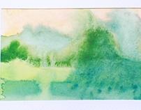 Landscapes - aquarelle - impressions - postcards