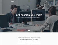 Unika | Responsive Material Design Onepage HTML