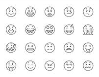 20 Emoticon Vector Icons