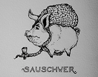 """sauschwer"" / ""beastly hard"" - sketch of the day"