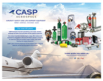 Branded marketing material for CASP Aerospace