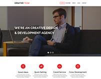 Free PSD Web Landing Page