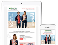 Newsletter Responsive Point Vert