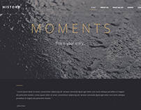 Moments One Page HTML Template