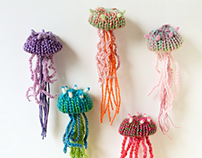 Jellyfish Brooches