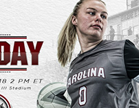 South Carolina Soccer family graphic package