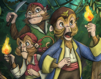 Concept Illustration: Monkey Pirates!