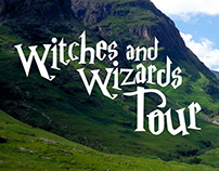 Witches and Wizards Tour Travel Magazine Mock Up