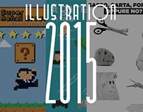 Serie di 3 illustrazioni/stili diversi // progetto  Acc