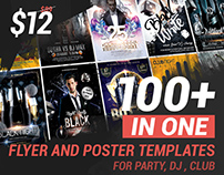 100 Awesome Dj, Club and Party Flyers Templates