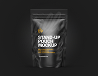 Stand-up Pouch Mockups PSD
