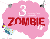 Zombie Life Comic Book Lettering & Infographic
