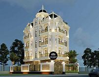 Thiết kế biệt thự tân cổ điển 5 tầng đẹp tại Bắc Ninh