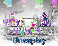 Unesplay - promotional material and logo