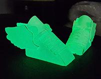 Glow In the dark Paper Sneaker