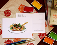 Vietnamese Street Foods_Postcard Illustration