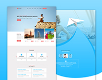 Free Travel Agency PSD Template