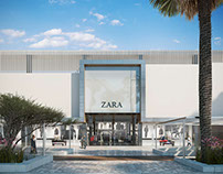 Architectural rendering of the Senzo Mall
