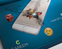 "Stop chatting when you drive "" Careem Car """