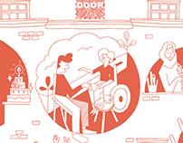 Illustrative flyer: DOOR Dordrecht
