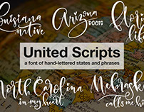 United Scripts: a font made of states!
