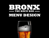 Bronx Brew Bar Menu Design