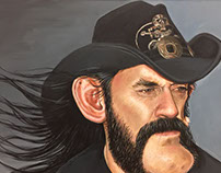 Lemmy Kilmister Caricature Painting