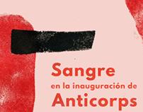 Cartel concierto Sangre en La Térmica, Málaga.