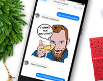 Holidays Happen (Facebook Stickers)