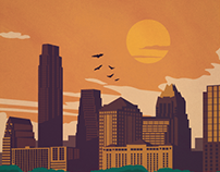 Austin Travel Poster