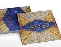Invitations | Gold+Red+Royal Blue