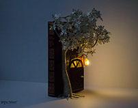 """""""Door to a Secret Garden"""" Book Art"""