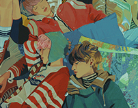 Music video painting studies