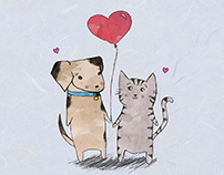 Paw-some Illustrated Valentines
