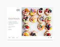 Minimal Food Blog 🍩