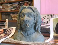 Clay Bust of Shnurov
