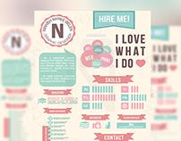 Creative CV for a Graphic Designer