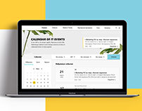 Calendar of IT Events   Web design
