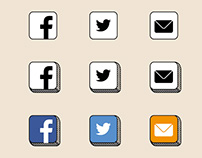 Bespoke social media icon set for author, Grace Flahive