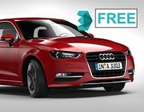 FREE - AUDI A3 - MODEL 3DMAX
