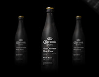 Corona Extra - Black Beer Bottle Design / Order Page